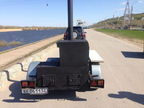 Гриль-смокер на колесах