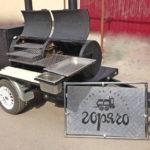 Гриль-смокер на колесах Горячо