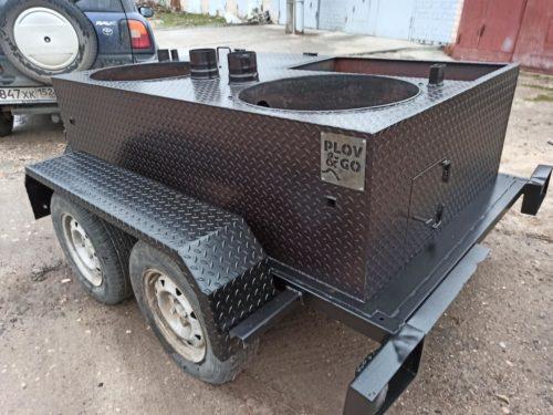 Пловница на колесах от Смокерс Горячо на 2 казана по 50 литров